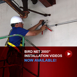 bird netting installation videos