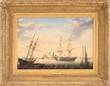 "Fitz Henry Lane's ""New Bedford Harbor"" Realized $296,250."