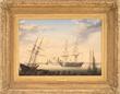 "Fitz Henry Lane's ""New Bedford Harbor"" Realized $296,250."