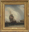 "Robert Salmon's ""Outward Bound, Long Island Head, Boston Harbor"" Realized $82,950."