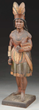 Tobacconist Figure Of An Indian Maiden Attributed To Samuel Robb Realized $94,800.