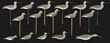 Sixteen Silhouette Carved Wood And Painted Shorebird Decoys Realized $90,060.