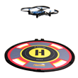 "Drone hovering over 16"" FlatHat Collapsible Drone Pad"
