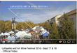 Lafayette Art + Wine Festival Official Video Screenshot + URL