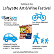Infographic - Lafayette Art + Wine Festival Transportation Options