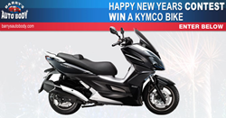 Like motorcycles - enter to win a Kymco bike Barry's Auto Body