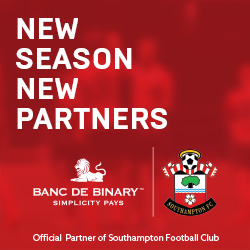 banc de binary is proud to announce a new global partnership with southampton football club. Black Bedroom Furniture Sets. Home Design Ideas