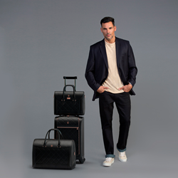 Soul of Nomad Atherton Classic Fit Jeans in Azimuth Navy Soul of Nomad Luggage Collection in Beluga Black