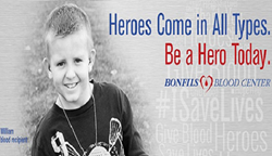 The blood drive in Breckenridge last month will help save lives for patients like William.