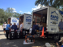 People's Trust Insurance and the Rapid Response Team provided emergency repairs to policyholders in response to Hurricane Hermine.