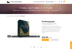 Pixel Film Studios Plugin - ProParagraph - FCPX
