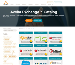 Avoka Exchange Catalog of Pre-Integrated Account Opening Services