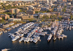Seattle Boats Afloat Show aerial view