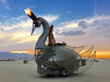 The Prodigal Swan art car debuted at the annual Burning Man festival in 2016