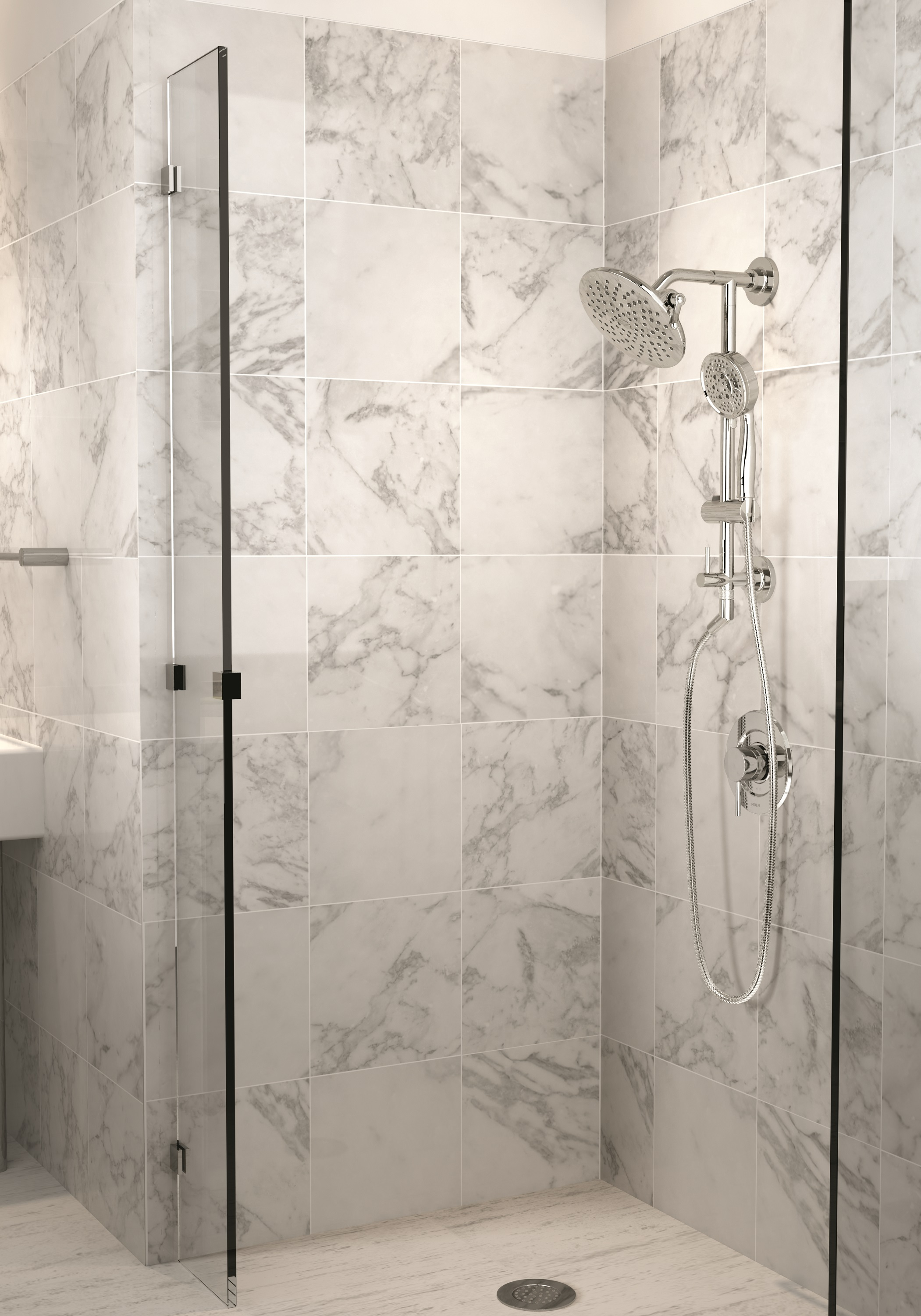 Simply Install Multiple Showerheads with Moen\'s First Shower Rail System