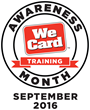 September is We Card Training Awareness Month