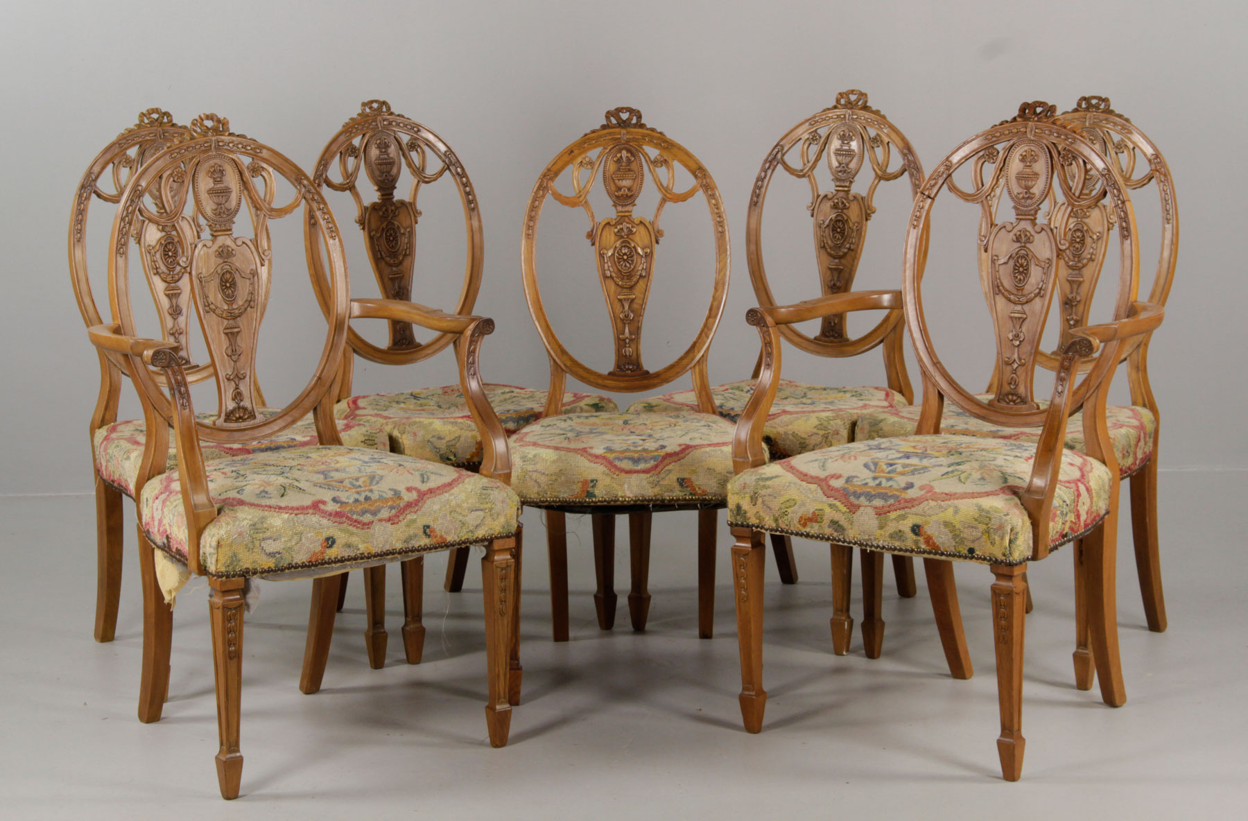 19th C. Hepplewhite Style Dining Chairs ...