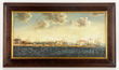View of Salem, Massachusetts Harbor, Oil on Canvas