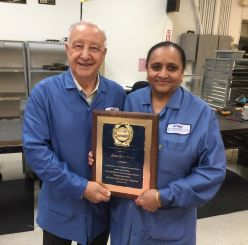 NJMET's Jim Federico Congratulates Kanchan Patel on her 20th Service Anniversary