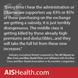 Obama Administration Is Downplaying Impact of Large Rate Hikes, Lack of Subsidies Faced by Millions of Individual Enrollees, AIS Newsletter Finds