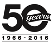 Positronic 50 year anniversary logo