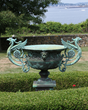 19th C. Solid Bronze Urn Shaped Fountain