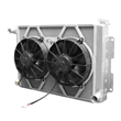 C&R Racing OE-Fit Extruded Tube Radiator Modules with Dual Spal Electric Fans
