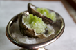OYSTERS WITH CHAMPAGNE, BASIL & APPLE GRANITA