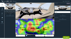 Add interactivity directly over the web. Checking users' point-of-gaze with a heat map
