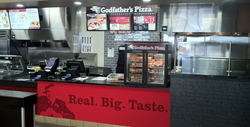 Godfather's Pizza Express inside the Love's Travel Stop in Quanah, Texas that opened in July.