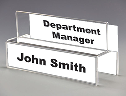 Over the Cubicle Name Plate Holder 4-way