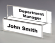 Partition Name Plate Holders, New Styles Introduced by Plastic Products Mfg.