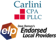 Christine A. Carlini, CPA, CGMA, Chosen to Be an Endorsed Local Provider (ELP) for Taxes in the North Charlotte Metro Region of North Carolina by Dave Ramsey