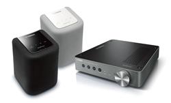 Yamaha WX-010 speakers (black and white), Yamaha WXA-50 amplifier
