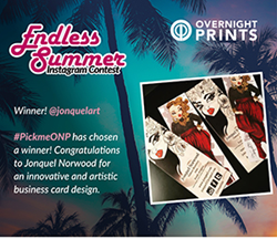OvernightPrints Instagram contest winner