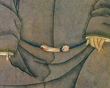 Illustration of how Chinese nobles wore the diagous (belt buckles).