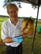 Example of energy beet held by Robert Kozak, President, Atlantic Biomass