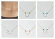 Circle of Love Necklace in various colorways.