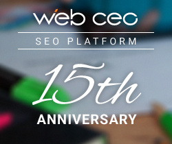 WebCEO Is Celebrating 15 Years in the Industry