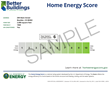 Sample Home Energy Score in Snugg Pro