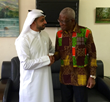 H E Hon Nii Osah Mills Minister of Lands and Natural Resources Ghana and Ahmed Bin Sulayem Executive Chairman DMCC