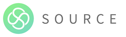 "Source logo - Green Circle with ""Source"" in grey"