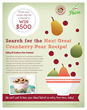 Cranberry Marketing Committee and USA Pears Announce the Next Great Cranberry-Pear School Foodservice Recipe
