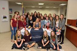Dietzen meets Moon Area High School Girls Volleyball team