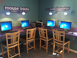 Dog Ears Bookstore's fully upgraded computer lab