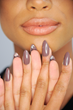 Stiletto Peek-a-boo nail