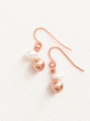 Pearls Love Dangle Earrings from DTailsULike.