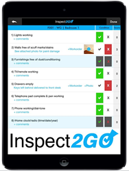 Mobile application for room inspection on iPad, iPhone and tablets