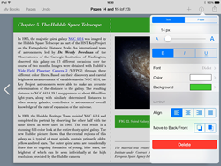 Screenshot of Book Creator for iPad