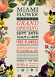 Miami Flower Market Grand Opening Invitation